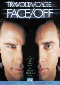 """""""Face/Off """" (1997) is a cult-classic psychological thriller about an undercover agent who receives a face transplant in the line of duty. Photo ccourtesy of soudtrackcollector.com"""