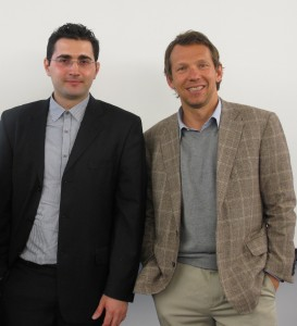 Dr. Baran Sarac (left) and Professor Jan Schroers (Right) are the co-authors and main researchers in determining the optimal microstructure for BMGs. Courtesy of Dr. Baran Sarac.