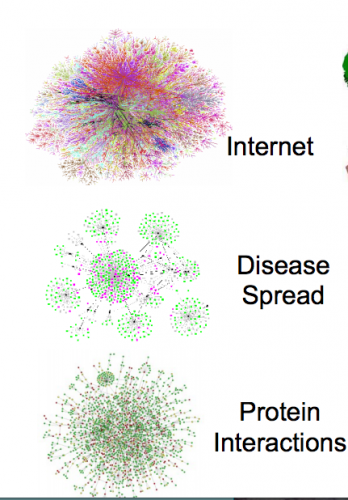 Using networks to map the connection between functional sites and the formation of hubs between these sites was important in prioritizing the relative importance of some variants over others. Networks are a common method to show the relationship between many events or data points. Courtesy of Mark Gerstein.