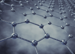 Graphene is useful for both its strength and its conductivity. It is formed in sheets just one atom thick, and it is almost completely transparent. Courtesy of Argonne National Lab.