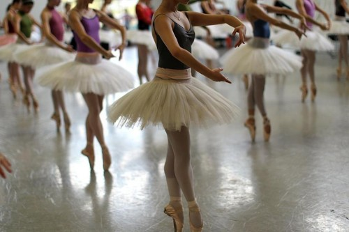 Professional ballet dancers execute countless pirouettes while training. Courtesy of Suzanne Kreiter.
