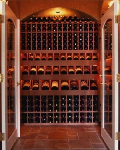 A wine cellar designed for the aging and storage of wine. Courtesy of Apex.
