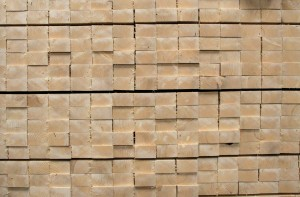 While the better parts of harvested wood, like these, are used in construction, scrap materials can be burned for energy. Photo Credit: Tony Hisgett/Flickr Creative Commons.