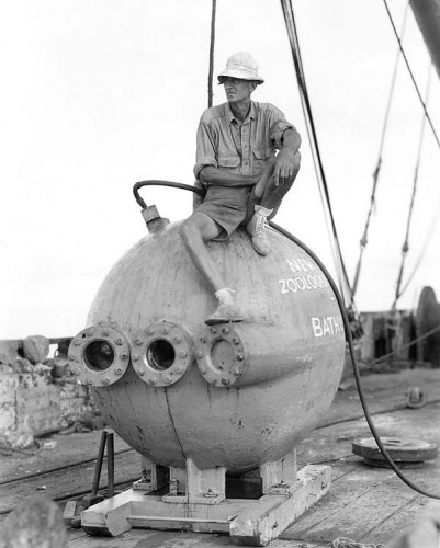 Charles William Beebe and Otis Barton's bathysphere was the first craft capable of reaching extreme depths  Photo courtesy of the National Oceanic and Atmospheric Administration