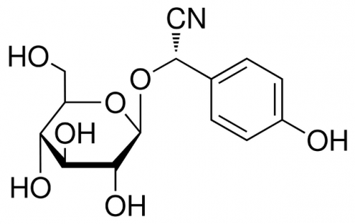 The chemical structure of dhurrin, which was successfully synthesized in chloroplasts earlier this year. Courtesy of Sigma Aldrich.