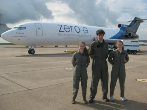 As a member of Yale's Drop Team, Horowitz had the opportunity to experience zero gravity. Courtesy of Ben Horowitz.