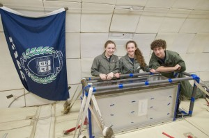 Horowitz poses with his friends from the Yale Drop Team, which performs reduced gravity experiments. Courtesy of Ben Horowitz.