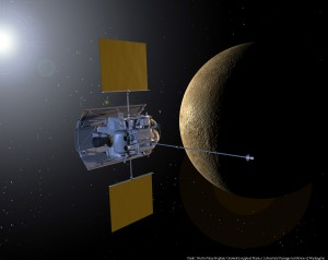 NASA's Messenger spacecraft, which is currently orbiting Mercury, sent back data on the planet's surface that resembles the composition of NWA 7325. Image courtesy of NASA