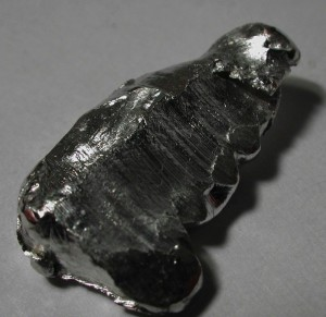 Indium is essential for smartphone touch screens, LCD flat-panel display screens, and LEDs and makes up 0.000016% of the earth's crust. Image courtesy of Theodore W. Gray.