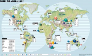 War of the elements? Metals are not uniformly distributed around the earth. Courtesy of New Scientist. COURTESY OF NEW SCIENTIST.