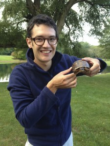 Yale graduate student Daniel Field holds a box turtle, an additional research interest of his. Image courtesy of Daniel Field.