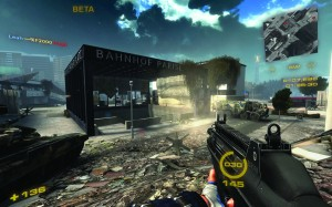 First person shooters are among the most popular video games on the market. Depicted here is the game Nuclear Dawn. Image courtesy of Wikipedia.
