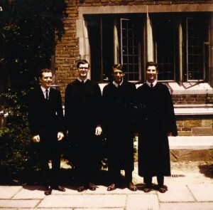 In the 1960s, Spiegel (far right) was a member of Calhoun College at Yale.