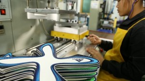 The Brazuca ball is produced by thousands in a factory in north eastern Pakistan. Image courtesy of CNN.