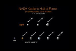 To date, there are eight confirmed exoplanets with radii less than twice that of Earth that are also in the habitable zone. Image courtesy of NASA.