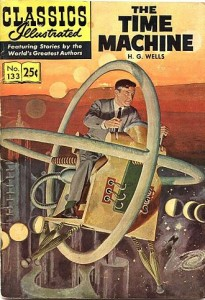 H.G. Wells' classic novel, The Time Machine, gets readers excited about the prospect of time travel. Image courtesy of Wikipedia.