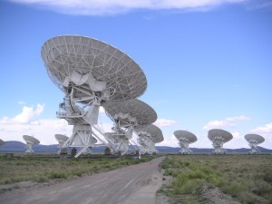 The Karl Jansky Very Large Array Telescope was part of the advanced technology that made Acre and Offner's research possible. Image courtesy of Wikimedia.
