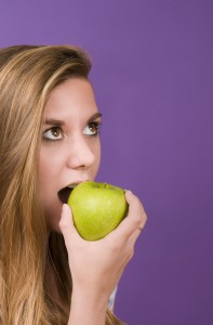 Experience the satisfying crunch of a fall apple. Image courtesy of Freestockphotos.biz