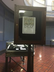 """The exhibit """"Deaf: Cultures and Communication"""" opened in January 2016 and will run until April 1, 2016. Image courtesy of Christina Kim."""