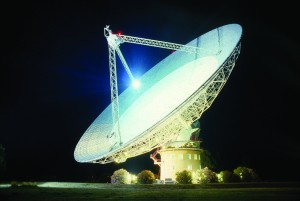 The Parkes Radio Telescope in Parkes, Australia. Image courtesy of Wikipedia.