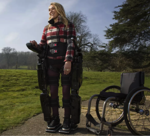 A thought-controlled exoskeleton similar to this one might become a reality for paralyzed patients in the next six years. Image courtesy of the University of Melbourne.