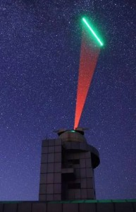 The QUESS satellite communicates by speaking with ground based stations, as information is beamed between the two locations. Fast feed-forward is needed for the ground station to keep track of the satellite, ensuring that the information isn't lost in space. Image courtesy of 中科大 (University of Science and Technology of China).