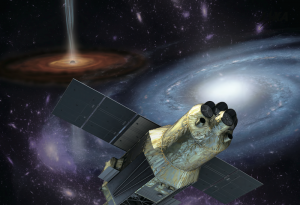 An artist's conception of Hitomi. Image courtesy of Dr. Megan Urry .