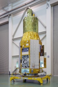 Hitomi photographed on Nov. 27, 2015, months before its launch. Image courtesy of Dr. Megan Urry.